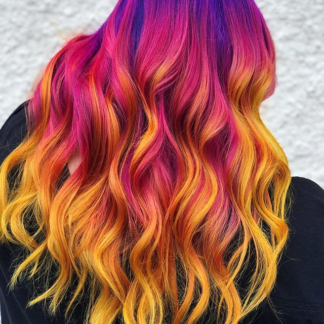 image of purple and orange hair