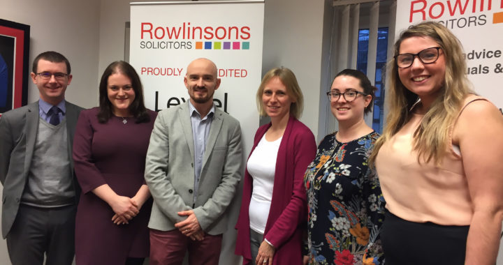 Rowlinsons Solicitors announce Chapter as their charity of the Year for 2020