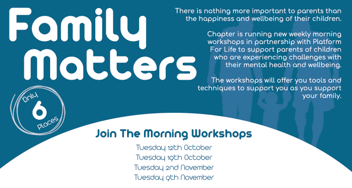 Poster for Family Matters workshops every Tuesday between October and November